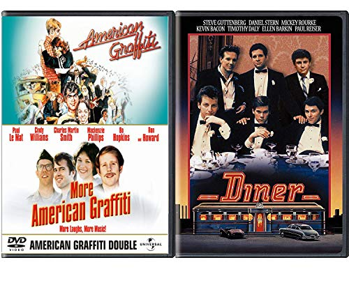 Fast American Diner Triple Feature ACADEMY AWARD movie Set Double 50's American Graffiti George Lucas + Barry Levinson Diner Classic - American Ford Graffiti Harrison