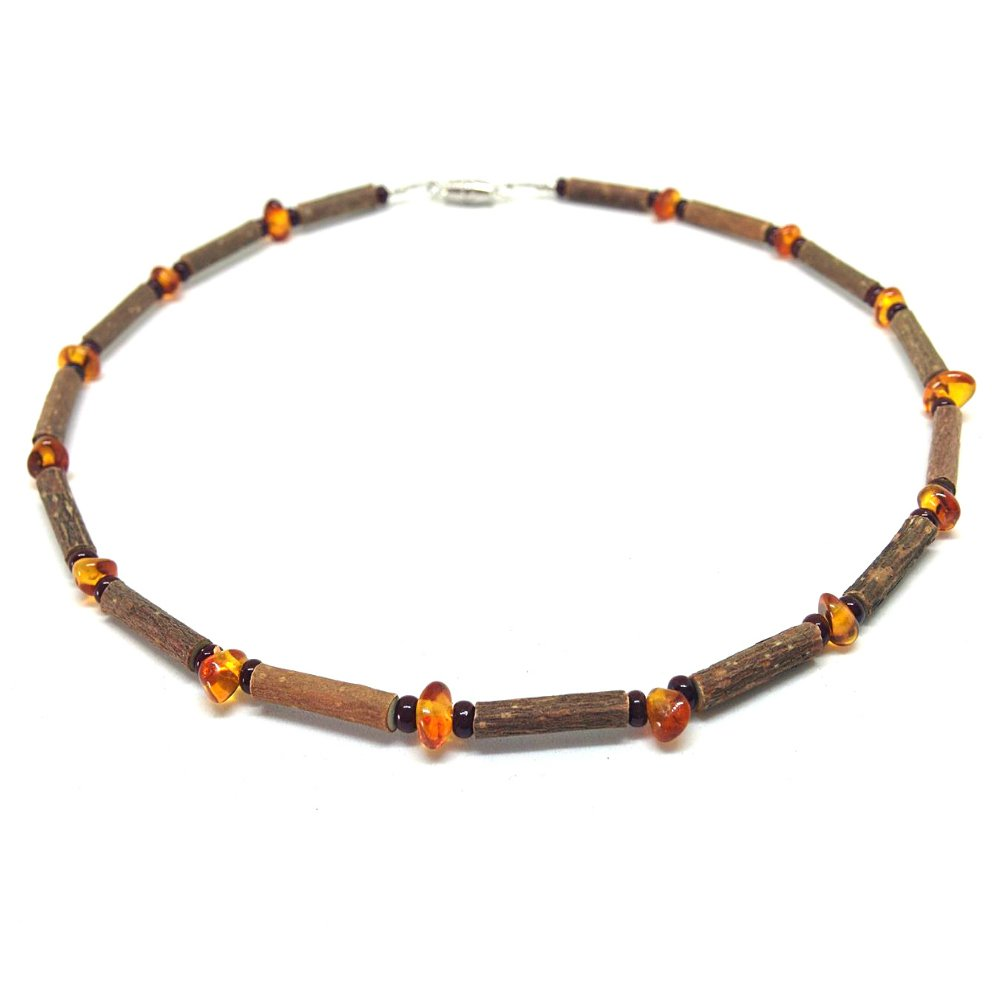 Pure Hazelwood Teething Necklace Baltic Amber for Baby/Child Therapeutic B04 (11'' / 28 CM)