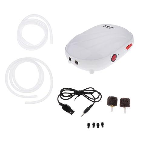 Homyl Bomba de Aire de Tanque de Pescados Aireador de Acuario Recarga de USB Complimentos -