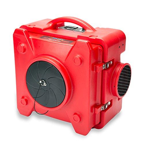 B-Air BD-AS-550-RE Red Air Scrubber HEPA Air Filtration System Negative Air  Machine Airbourne Air Cleaner