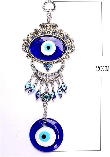 decorazione da parete 12,7 cm Amuleto decorativo da parete in vetro blu occhio del male turco Nazar