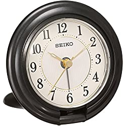 SEIKO CLOCK ( Seiko clock ) portable tiger Bella clock ( black ) QQ637K