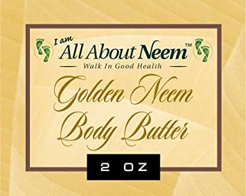 Neem Oil Golden Body Butter Organic with Hemp, Moringa, Mango, Mowrah Shea Butters 8 Oz Jar Hydrating Neem Skin Cream