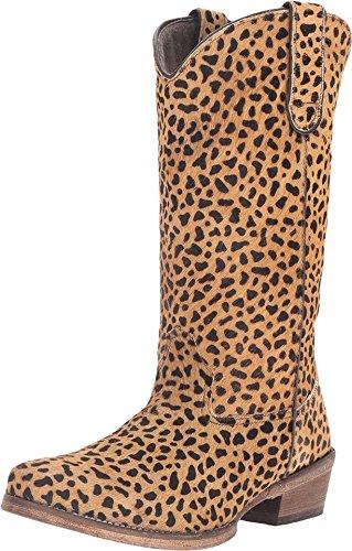 Roper Western Boot Womens Cheetah Hair 6.5 Tan 09-021-0923-1042 (09 Cheetah)