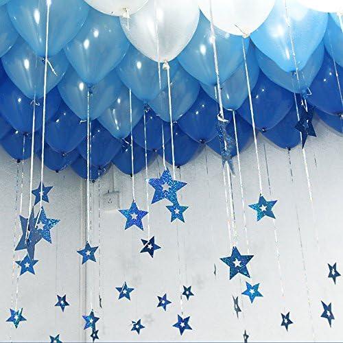 Birthday Hot Air Balloon Rainbow Star Ribbon Bling Pink Blue White Cake Topper