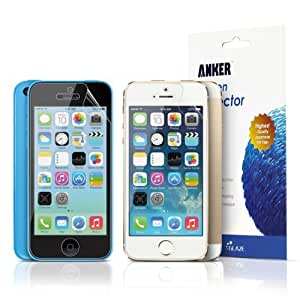 (3-Pack) Anker® Glaze iPhone 5 Screen Protector Film - Highest Quality Japanese PET Material [Ultra Clear, Gloss finish] - T-shaped Cutout - Lifetime Satisfaction Guaranty