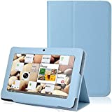"ikasus Folio Stand Faux Leather Case Cover Flip Protection Guard Case for Zeepad,Chromo,Alldaymall,Matricom,Tagital 7"" Android Tablet Q88,Alldaymall A88X 7"",NeuTab N7 Pro,Chromo Inc® 7"",Light Blue"