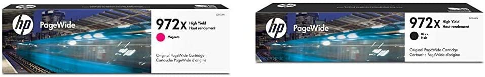 HP 972X | PageWide Cartridge High Yield | Magenta | L0S01AN & 972X | PageWide Cartridge High Yield | Black Noir| F6T84AN