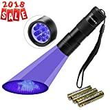Black Light UV Flashlight UV Light - Vansky 12 LED Ultraviolet Detector For Dog Cat Pet Urine & Dry Stains and Bed Bug On Carpets Rugs Floor - Matching with Pet Odor Eliminator