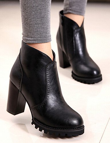 Robusto Black Cn39 Patentado 5 De Cn37 Xzz Eu37 Uk6 Botas Uk4 Eu39 Red Casual 7 5 Rojo us8 Anfibias us6 Negro 5 Cuero Zapatos Tacón Mujer zIwwTaq