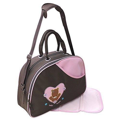 GMMH 2 tlg Baby Farbe rosa braun Wickeltasche Pflegetasche Windeltasche Babytasche Reise Farbauswahl