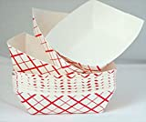 hot dog plates - Tytroy 50- Pack Disposable Cardboard Paper Food Serving Food Trays Boat Baskets, 1 Pound