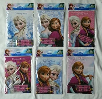 12 Sets Of Disney Frozen Coloring Books And Crayon Set Children Party Favors Bag Filler