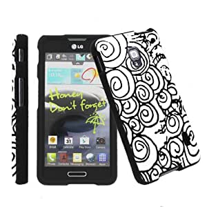 [ArmorXtreme] LG Optimus F6 D500 Total Protection Black Phone Cover Hard Case [L]
