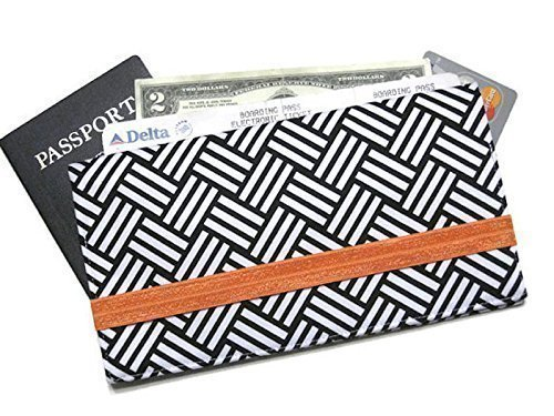 Passport Wallet and Fabric Boarding Pass Holder for Organized Travel