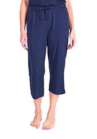 bbe11157a7 Cool-jams Moisture Wicking Mix and Match Expandable Wide Band Capri PJ Pants  with Drawstring