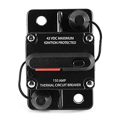 ANJOSHI 50-300 Amp Surface-Mount Circuit Breaker with Manual Reset Fuse Holder Inline Stereo Audio Replacement Fuse for Overload Protection, Waterproof