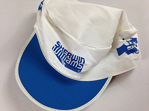 Sherwin Williams Hat Vintage Painters Cap Lightweight Adult Xl Thin 60S 70S White