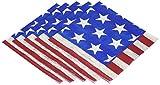 Amscan Americana Luncheon Napkins Patriotic 4Th of July Party Disposable Tableware (100 Piece), Multicolor, 6.5