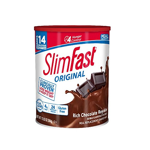 SlimFast Original Rich Chocolate Royale Meal Replacement Shake Mix - Weight Loss Powder - 12.83oz. - 14 servings