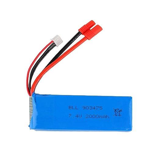 Batería de polímero de litio 7,4 V 2000 mAh para Syma X8 X8C X8W X8G