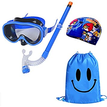 Kid Snorkel Set Silicona Scuba Child Swimming Snorkeling Máscara Gafas con antivaho Goggles Buceo Swim Cap