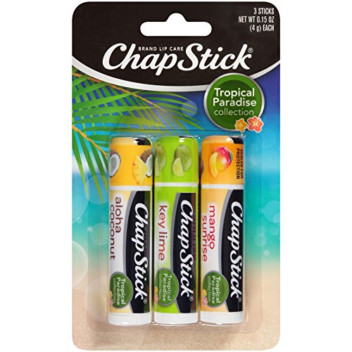 Chapstick Tropical Paradise Collection Lip Care, 0.15 Ounce, 3 ct ()