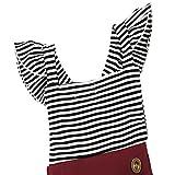 KIDSA 0-2T Baby Girl Summer Vintage Striped Romper