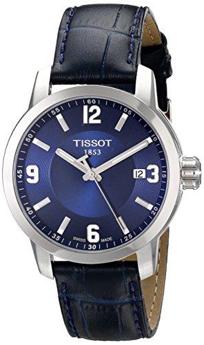 Tissot-Mens-PRC-200-Quartz-Blue-Dial-Blue-Leather-Sport-Watch-T0554101604700