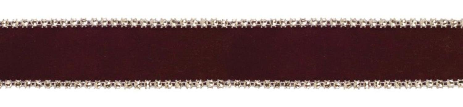 """Melrose Pack of 6 Chocolate Brown and Silver Wired Decorative Craft Ribbon 1.5"""" X 60 Yards"""