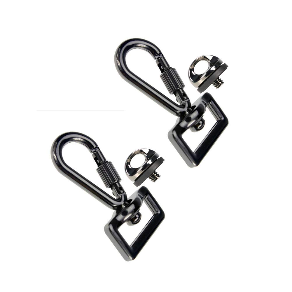 Whale GoGo 2 Sets Quick Release Trigger Snap Hook Lobster Clasp with Screw Lock for Camera Sling Strap