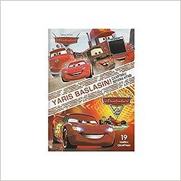 Disney Arabalar Yarış Başlasın çıkartmalı Boyama Kitabı Kolektif
