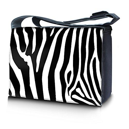Luxburg® Design bolso bandolera de mensajero, de escuela bolso para portátil ordenadores Laptop Notebook 17,3 pulgadas, motivo: Erizo multicolor Cebra