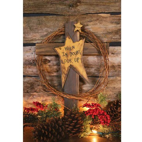Ohio Wholesale Look Up Cross Wall Art, from our Inspirational (Primitive Americana Decor)
