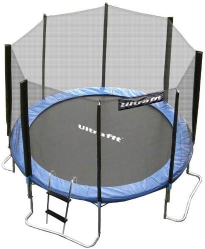 Ultrafit Jumper Cama Elástica 305 cm Set incluyendo la red de seguridad – Lluvia cobertura – Escalera – hasta 180 kg: Amazon.es: Deportes y aire libre