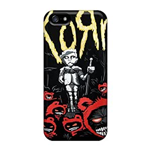 Shock-Absorbing Hard Phone Cover For Iphone 5/5s (rOC19133fsJy) Customized Trendy Korn Series