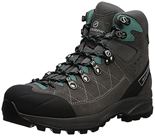 Scarpa Women's Kailash Trek GTX Hiking Boots Smoke/Lagoon 38 & E-Tip Glove (Scarpa Womens Kailash Gtx Lady)