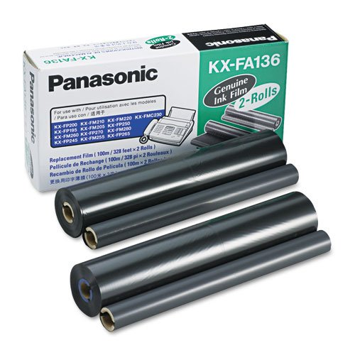 Panasonic - KXFA136 Film Roll Refill, 2/Box KX-FA136 (DMi - Kx Refill Fa136