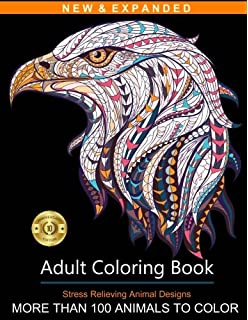 Adult Coloring Book: Stress Relieving Animal Designs: Blue Star ...