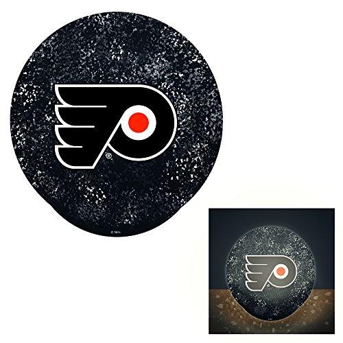 (Team Sports America Philadelphia Flyers LED Glass Disk Indoor Light)