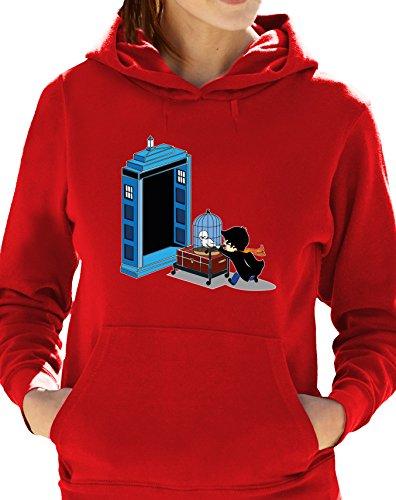 Eat Sleep Shop Repeat - Sudadera con capucha - para mujer Rosso