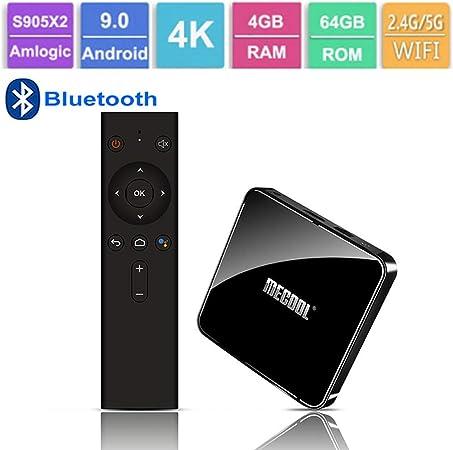 GALEI Andriod 9.0 TV Box, decodificador Bluetooth 3D 4K Ultra HD 4GB RAM + 32GB ROM WiFi 2.4G / 5G, Smart 4K Media Player con Control Remoto: Amazon.es: Hogar