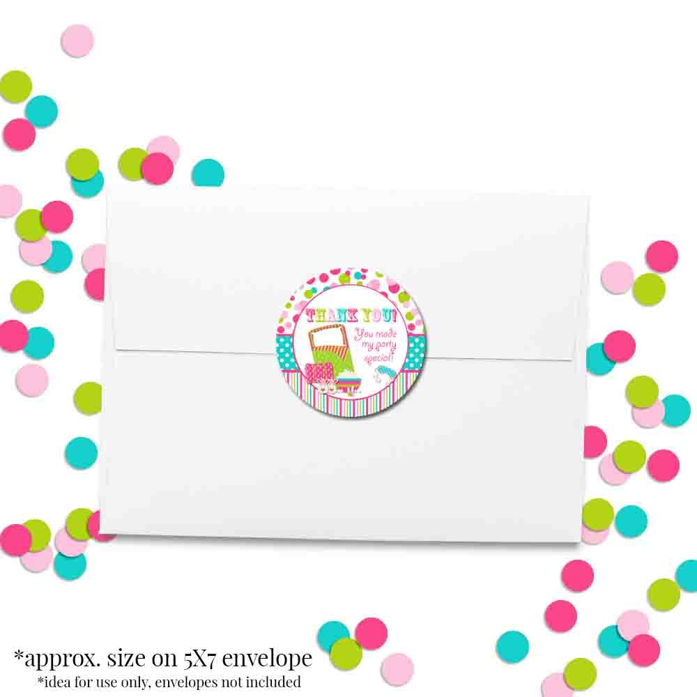 Envelope Seals /& Goodie Bags 40 2 Party Circle Stickers by AmandaCreation Amanda Creation Great for Party Favors 40 2 Party Circle Stickers by AmandaCreation Sleepover Birthday Party Thank You Sticker Labels