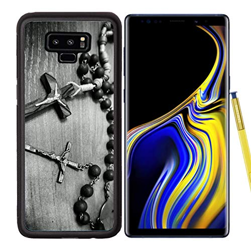 Luxlady Samsung Galaxy Note 9 Case Aluminum Backplate Bumper Snap Cases Image ID: 34715702 Two Rosaries Catholic Most Important Prayer Support