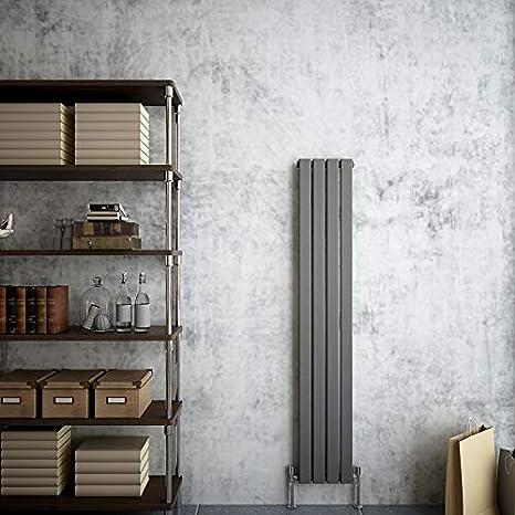 AICA Radiator Single Oval Column Upright Heater White 1800x236mm