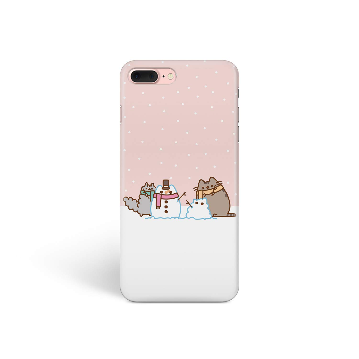 iPhone Case Cute Winter Cats for Apple iPhone 6S Hard Case Durable Protective Shell Cover Case (Cute Cat Snowman, iPhone 6S)