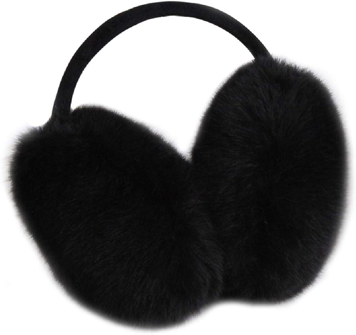 Earmuffs Ear Warmers For Women Winter Fur Foldable Ear Warmer