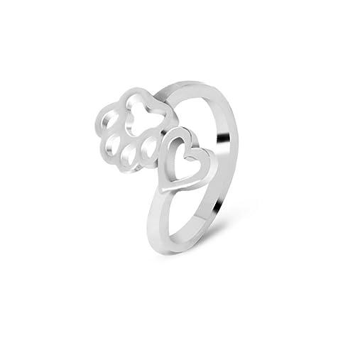 Amazon.com: Paw patas de perro Anillo, perro joyas, anillo ...