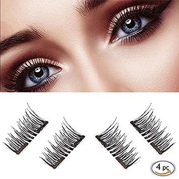 d2f8abd048e Amazon.com : Magnetic False Eyelashes for Natural Look - No Glue, Double  Magnet, Easy to Apply - 3D Reusable Mink Eyelash Extensions.Premium Fake  Lashes Set ...