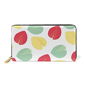 Women Wallet Coin Purse Phone Clutch Pouch Cash Bag Female Girl Card Change Holder Organizer Storage Key Hold Leather Elegant Handbag Party Birthday Gift Colorful Floral